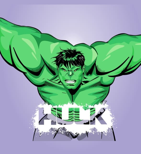 El increible hulk vector editable descarga gratis.