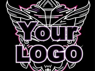 Fondo con alas abstracto para Logo Brand, Marca. Escudo. Shield Wings