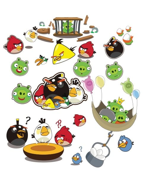 Angry Birds characters Vector, EPS, AI y CDR