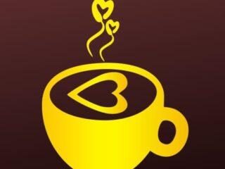 Taza de café vector corazón amor love