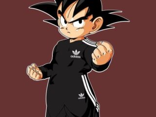 Goku deportista Adidas Vector editable.