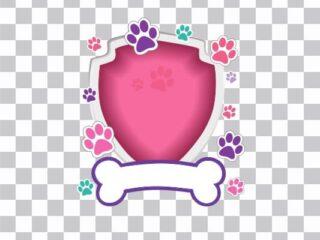 Puppy frame transparente background