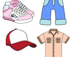 Set de Ropa Tennis Camisa Pantalón y gorra Vector